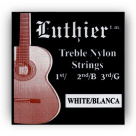 Luthier White Blanca Treble Classical Guitar Strings