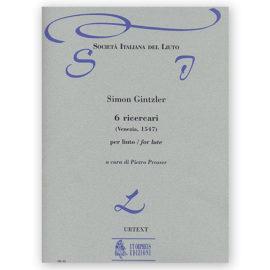 Simon Gintzler 6 Ricercari