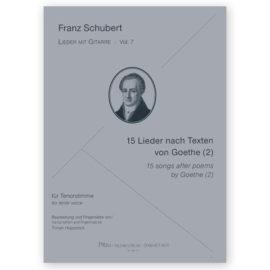 Hoppstock Franz Schubert Vol 7 15 Songs Goethe