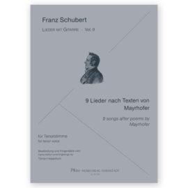 Hoppstock Schubert Vol 9 9 Songs by Mayrhofer