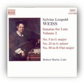 Barto Weiss Sonatas for Lute Volume 2