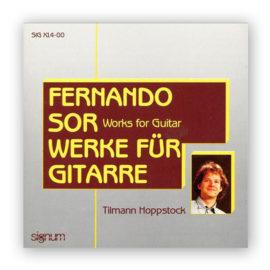 Tilman Hoppstock Fernando Sor Works for Guitar