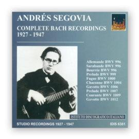 Andrés Segovia Complete Bach Recordings