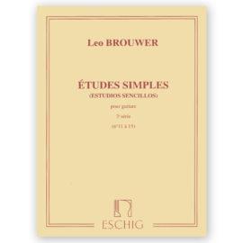 Leo Brouwer Études Simples Estudios Sencillos 3