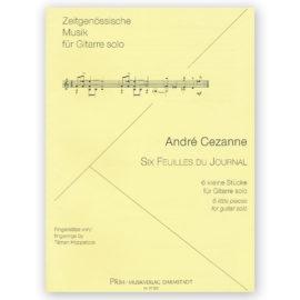 André Cezanne Six Feuilles du Journal Tilman Hoppstock