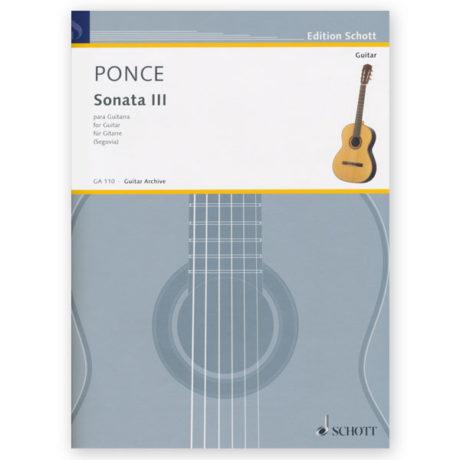Ponce, Manuel Sonata III Ed Segovia - Los Angeles