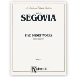 sheetmusic-segovia-five-short-works