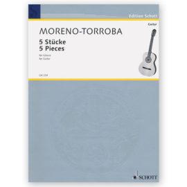 sheetmusic-torroba-5-pieces
