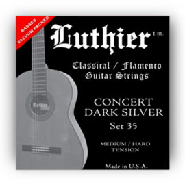 Luthier Dark Silver Set 35 Classical Guitar Strings