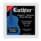 Luthier Concert Silver 30 Medium/Hard Tension with Titanium trebles