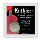 Luthier Popular Supreme 20 Medium Tension with Super Carbon 101 trebles